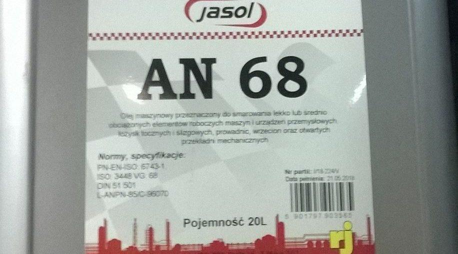 Olej maszynowy typu LAN 68