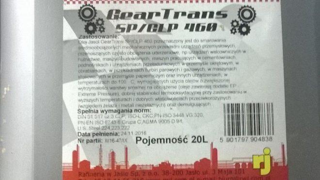 Olej GearTrans SP/CLP 460