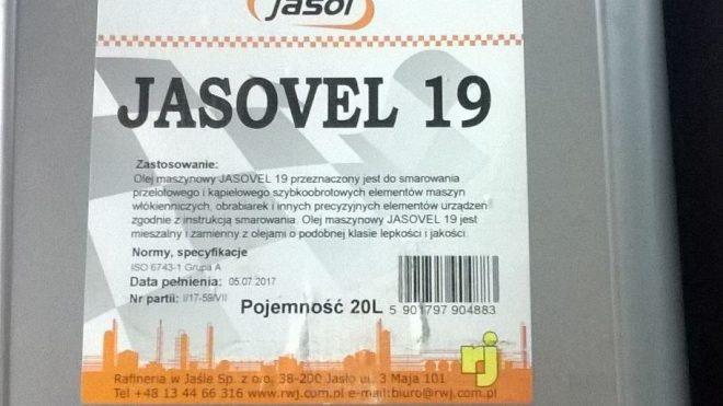Olej maszynowy Jasovel 19