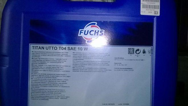 Olej Fuchs TITAN UTTO TO-4 SAE 10W